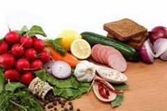 Alimento sano. Verduras frescas y frutas. Foto de archivo libre de regalías