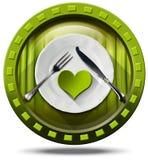 Alimento saudável - ícone verde ilustração do vetor