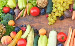 Alimento saudável - alimento biológico Foto de Stock Royalty Free