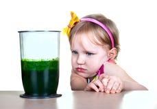 Alimento saudável, batido verde Imagens de Stock