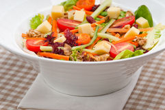 Salada saudável colorida fresca foto de stock