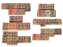Alimento saudável - coma esperto Imagem de Stock Royalty Free