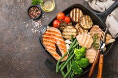 Alimento saudável da grade fotos de stock