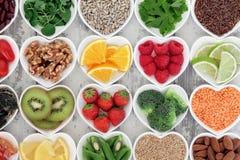 Alimento saudável do coração Fotos de Stock