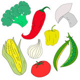 Alimento saudável dos vegetais verdes Imagens de Stock