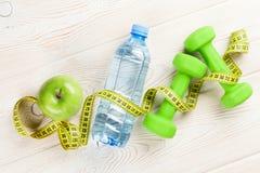 Alimento saudável e aptidão Fotografia de Stock Royalty Free