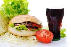 Alimento saudável e insalubre Fotografia de Stock Royalty Free