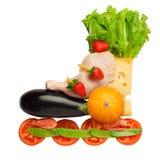 Alimento saudável em um corpo saudável: aptidão como um estilo de vida. Imagens de Stock Royalty Free