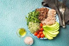 Alimento saudável equilibrado imagem de stock royalty free