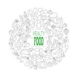 Alimento saudável Ilustração do vetor Foto de Stock Royalty Free