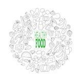 Alimento saudável Ilustração do vetor Imagens de Stock