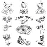 Alimento saudável Ilustração do vetor no estilo do esboço ilustração royalty free