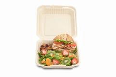 Alimento saudável na cesta de comida de togo foto de stock royalty free