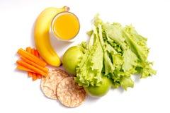 Alimento saudável no fundo branco imagem de stock royalty free