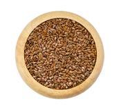 Alimento saudável para impedir doenças cardíacas e excesso de peso flax imagem de stock