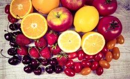 Alimento saudável - produtos alimentares com um índice alto da vitamina c Fotografia de Stock Royalty Free