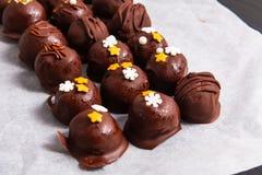 Alimento saudável, semente de girassol crocante do chocolate orgânico caseiro Fotografia de Stock Royalty Free