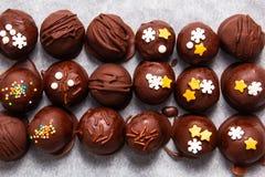 Alimento saudável, semente de girassol crocante do chocolate orgânico caseiro Imagens de Stock