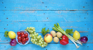 Alimento saudável Vegetais e fruta fotos de stock