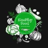 Alimento saudável Vegetariano 2 Imagens de Stock Royalty Free