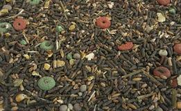 Alimento seco para coelhos e outros roedores Foto de Stock Royalty Free
