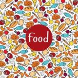 Alimento sem emenda do teste padrão Fotografia de Stock Royalty Free