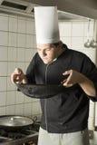 Alimento sentente l'odore del cuoco unico immagine stock libera da diritti