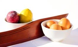 Alimento separado - alimento que combina a dieta fotografia de stock
