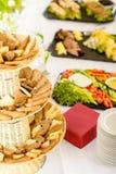 Alimento servido comida fría del abastecimiento de la selección del pan Fotos de archivo