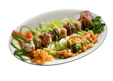 Alimento-skewer Fotografia de Stock Royalty Free