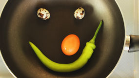 Alimento sorridente Fotografia Stock Libera da Diritti