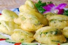 Alimento squisito della Cina--fogli di menta fritti del campo Immagine Stock Libera da Diritti