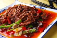 Alimento squisito della Cina--germogli di bambù e kidne del porco Immagine Stock