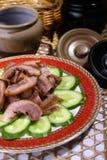 Alimento squisito della Cina--porco e cetriolo Immagine Stock