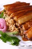 Alimento squisito della Cina-- porco e riso Fotografia Stock