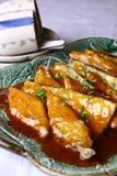 Alimento squisito della Cina--ribbon-fish fritto Immagini Stock