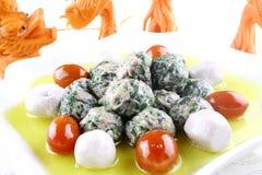 Alimento squisito della Cina-- sfera di verdure Fotografia Stock Libera da Diritti