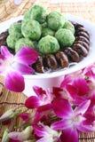 Alimento squisito della Cina--sfera fritta del ravanello e della cicala Fotografia Stock