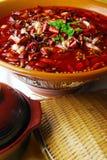 Alimento squisito della Cina--stomaco del maiale e del peperoncino rosso e du Fotografia Stock