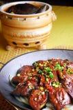 Alimento squisito della Cina-- tartaruga soft-shelled e sostanza appiccicosa Immagine Stock
