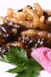 Alimento squisito della Cina-- tendine fritto dell'interlinea di mare Fotografia Stock