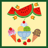 Alimento squisito di estate illustrazione di stock