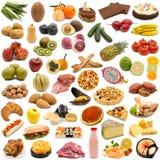 Alimento su priorità bassa bianca Fotografia Stock Libera da Diritti