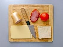 Alimento su superficie di legno Immagini Stock