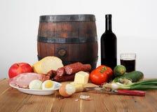 Alimento sulla tabella Fotografie Stock