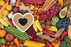 Alimento super do coração saudável Imagens de Stock Royalty Free