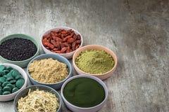 Alimento super orgânico classificado imagens de stock royalty free