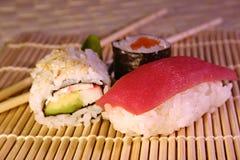 Alimento: sushi & maki Foto de Stock Royalty Free