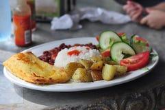 Alimento típico de Rican de la costa de Casado Foto de archivo libre de regalías