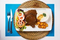 Alimento típico do venezuelano do negro de Asado Foto de Stock